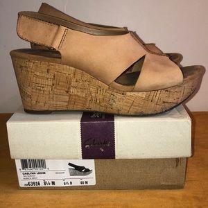 Clarks🌸Artisan Caslynn Lizzie Cork wedge sandal